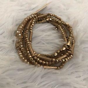 Gold multi bracelets
